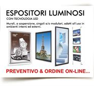 ESPOSITORI LUMINOSI LED
